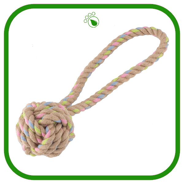 Beco Hemp Rope Ball with Handle