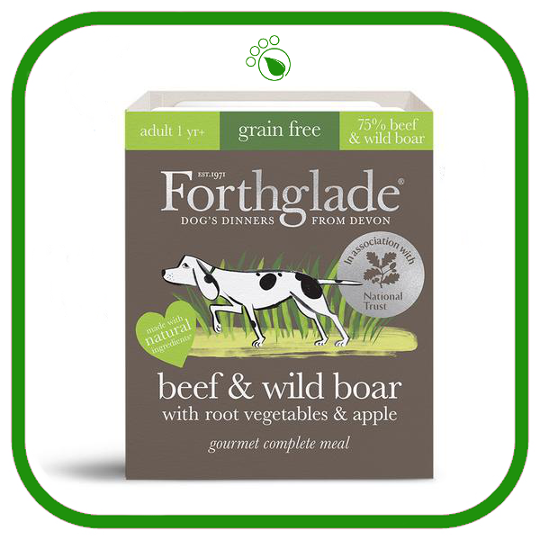 Forthglade Gourmet Beef and Wild Boar Wet Dog Food