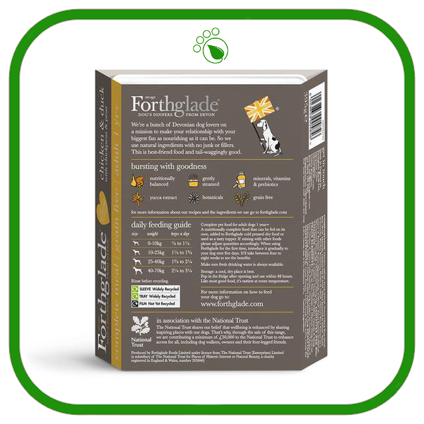 Forthglade Gourmet Chicken and Duck Wet Dog Food