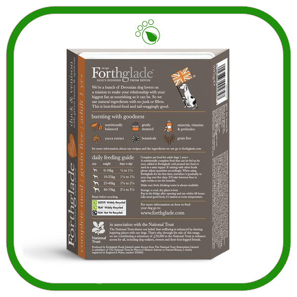 Forthglade Gourmet Duck and Venison Wet Dog Food